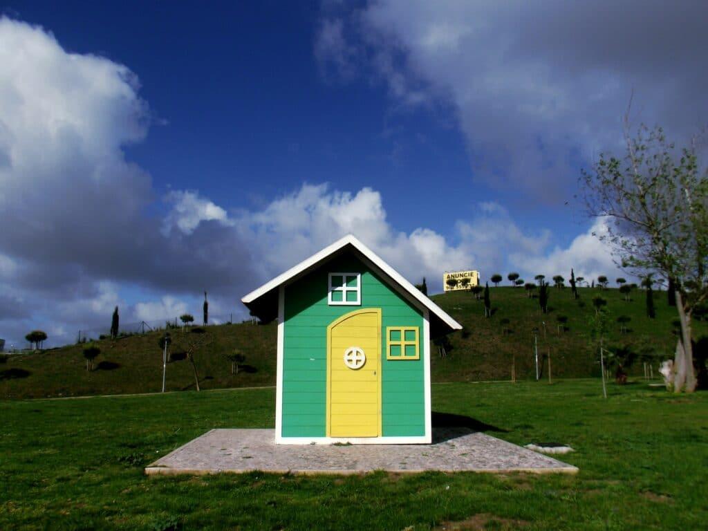 Fa kerti ház